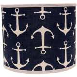 Navy Anchors Aweigh 16x16x13 Drum Shade (Spider)