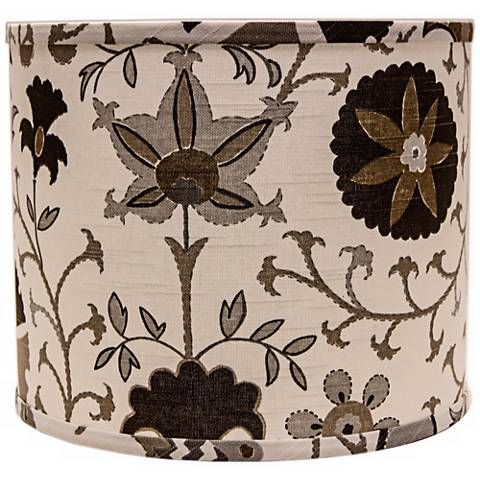 Calypso Browns on White 12x12x10 Drum Shade (Spider)