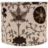 Calypso Browns on White 14x14x11 Drum Shade (Spider)