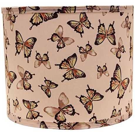 Blushing Butterflies 14x14x11 Drum Shade (Spider)