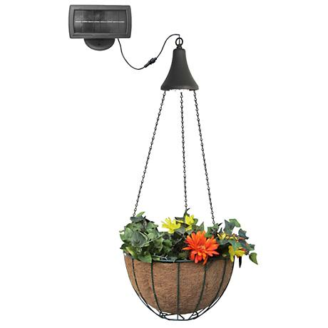 "Hanging Basket 36"" High Solar LED Planter Spotlight"