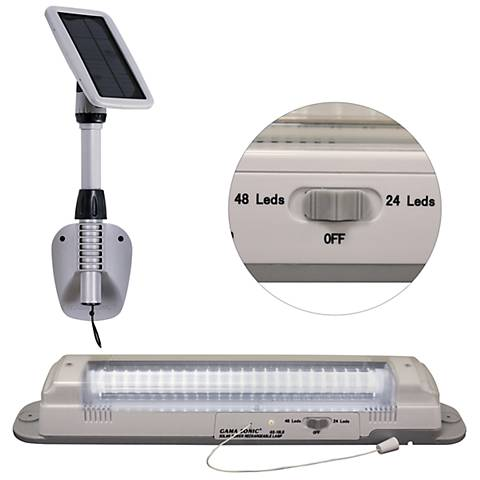 "Light My Shed III White 18 1/2"" Wide Solar Shed Light"