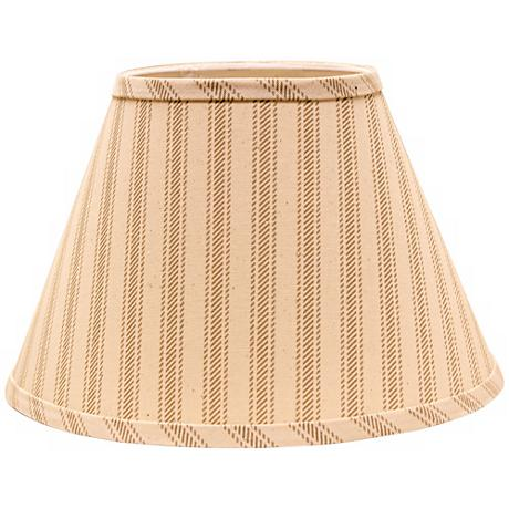Wide Taupe Ticking 6x12x8 Empire Shade (Spider)
