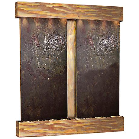 Cottonwood Falls Rustic Copper Featherstone Wall Fountain