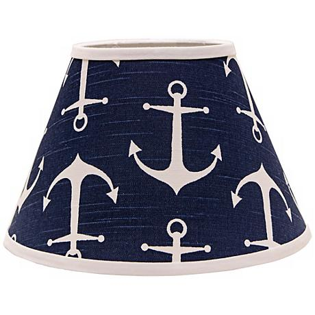 Navy Anchors Aweigh 8x14x10.5 Empire Shade (Spider)