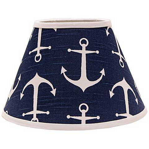 Navy Anchors Aweigh 9x16x12 Empire Shade (Spider)