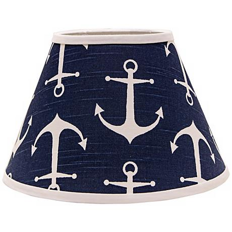 Navy Anchors Aweigh 10x18x13 Empire Shade (Spider)