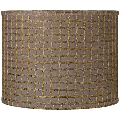Brown with Tan Weave Drum Shade 14x14x11 (Spider)