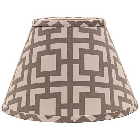 Gray Modern Square 6x12x8 Empire Shade (Spider)