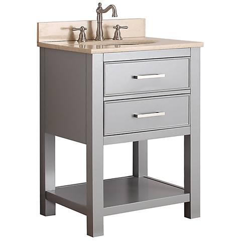 """Avanity Brooks 24"""" Beige Top Gray Single Sink Vanity"""