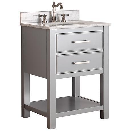 """Avanity Brooks 24"""" White Top Gray Single Sink Vanity"""