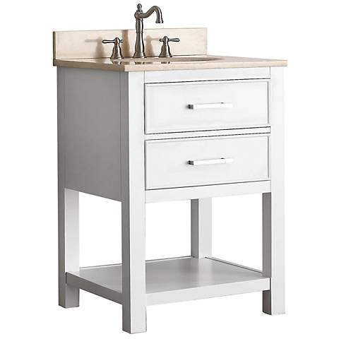 """Avanity Brooks 24"""" Beige Top White Single Sink Vanity"""