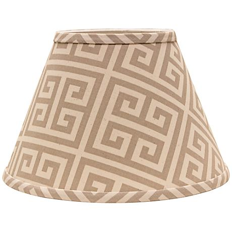 Taupe Greek Key 4x6x5.25 Empire Shade Set of 6 (Clip-On)