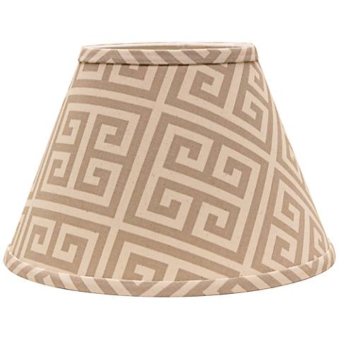 Taupe Greek Key 8x14x10.5 Empire Shade (Spider)