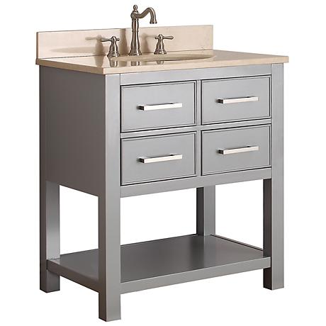 "Avanity Brooks 30"" Beige Top Gray Single Sink Vanity"