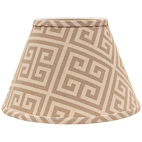 Taupe Greek Key 9x16x12 Empire Shade (Spider)