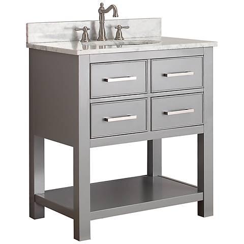 """Avanity Brooks 30"""" White Top Gray Single Sink Vanity"""
