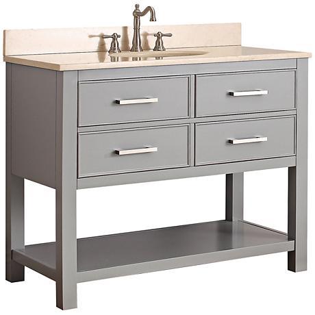 """Avanity Brooks 42"""" Beige Top Gray Single Sink Vanity"""