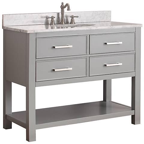 Avanity Brooks 42 White Top Gray Single Sink Vanity 6v679 Lamps Plus