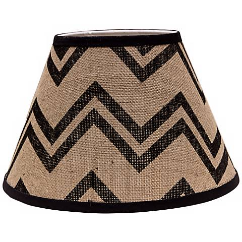 Black Chevron Burlap 6x12x8 Empire Shade (Spider)