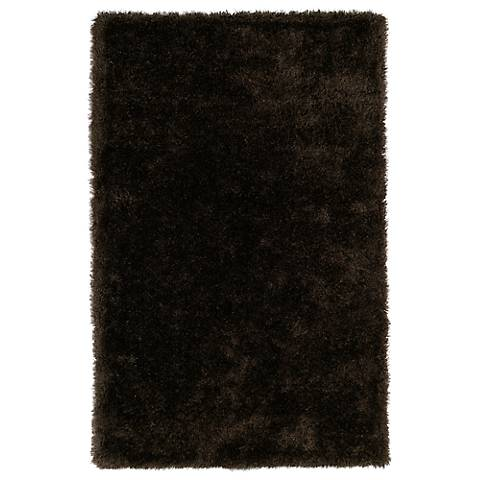 Kaleen Posh PSH01-40 Chocolate Shag Area Rug