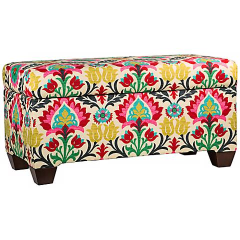 Santa Maria Desert Flower Storage Bench