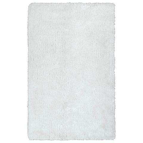 Kaleen Posh PSH01-76 White Shag Area Rug