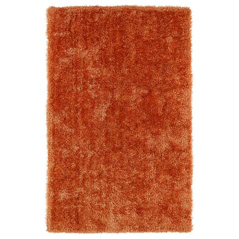 Kaleen Posh PSH01-89 Orange Shag Area Rug