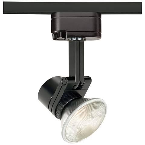 wac studio 713 l black track head for lightolier 6v869 lamps plus. Black Bedroom Furniture Sets. Home Design Ideas