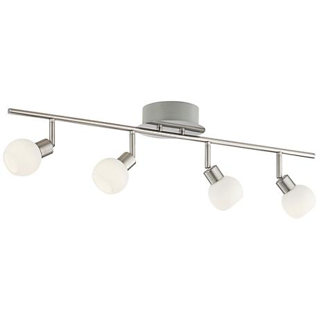 Pro Track Globe Chrome 4 Light Led Plug In Track Fixture