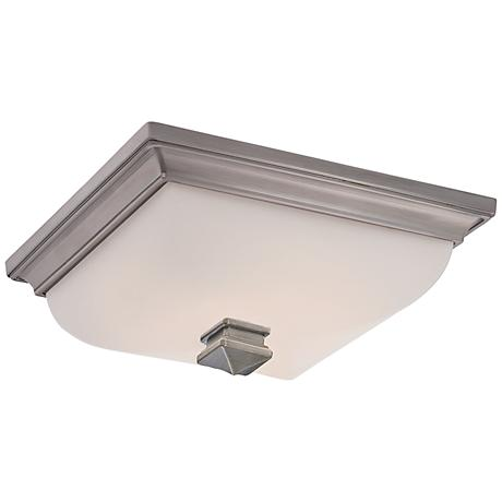 "Bristol 13"" Wide LED Ceiling Light in Antique Nickel"