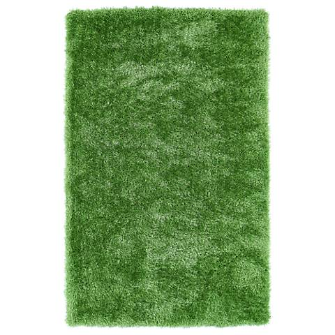 Kaleen Posh PSH01-96 Lime Green Shag Area Rug