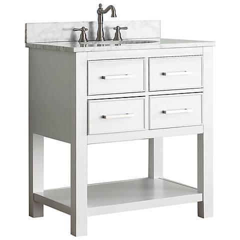 """Avanity Brooks 30"""" White Top White Single Sink Vanity"""