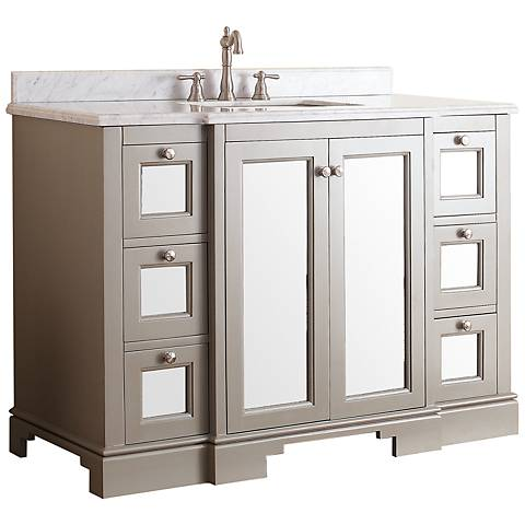 "Avanity Newport 48"" White Top French Gray Vanity"