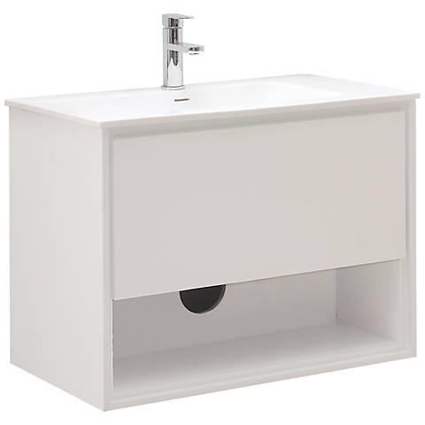"""Avanity Sonoma 31"""" White Top Glossy White Vanity"""