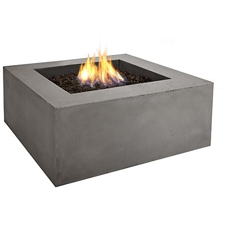 Real Flame Baltic Square Gray Natural Gas Fire Table