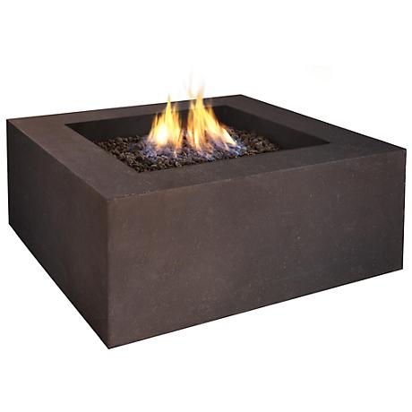 Real Flame Baltic Square Brown Natural Gas Fire Table