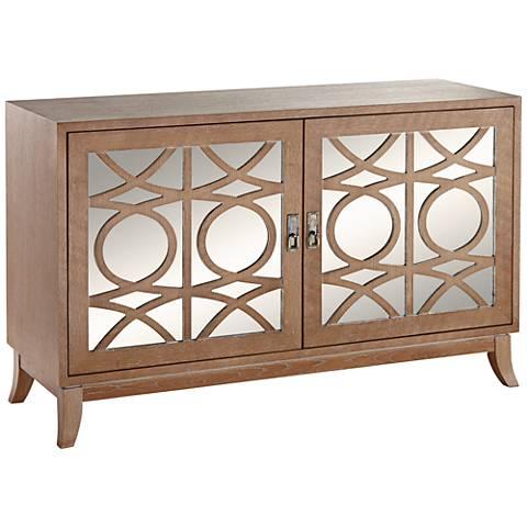 """Ritz 51 3/4"""" Wide Mirrored 2-Door Cabinet"""