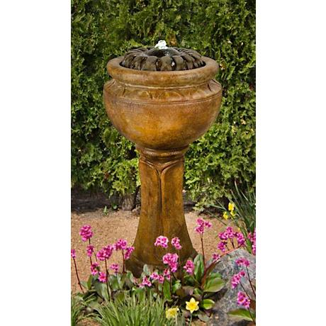 Henri Studio Sunflower Tall Patio Bubbler Fountain