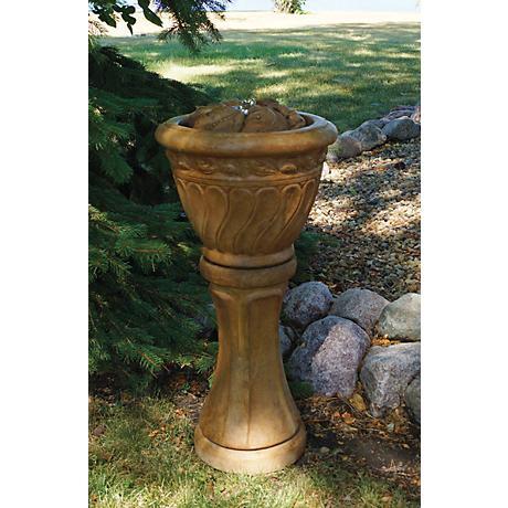 Henri Studio Relic Oak Leaf Tall Patio Bubbler Fountain