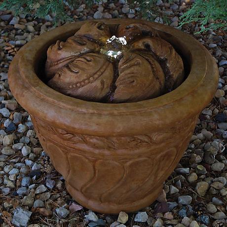 Henri Studio Relic Oak Leaf Patio Bubbler Fountain