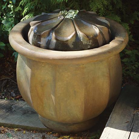 Henri Studio Nebbia Petals Patio Bubbler Fountain