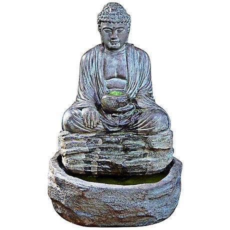 Henri Studio Relic Azura Buddha Cast Stone Fountain