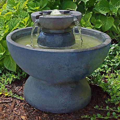 Henri Studio Relic Azura Copa Cast Stone Fountain