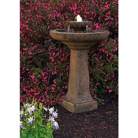 """Henri Studio 36""""H Relic Lava Aquarius Cast Stone Fountain"""