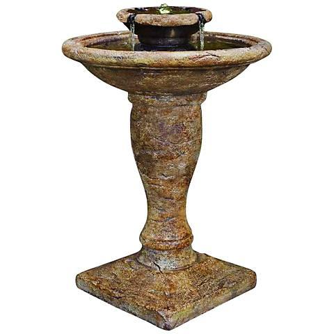 """Henri Studio 35""""H Relic Lava Windstone Cast Stone Fountain"""