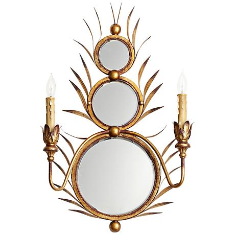 """Kingston 16"""" Wide Gold Wrought Iron Wall Sconce"""