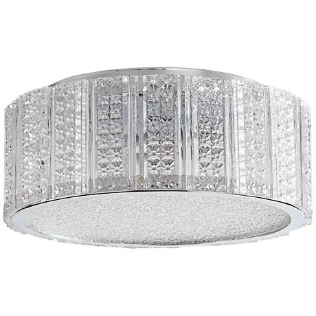 """Aaria 10"""" Wide Small Clear Glass Ceiling Light"""