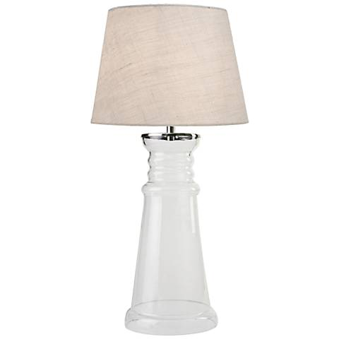 Kenroy Home Epic Clear Glass Table Lamp