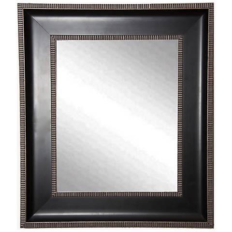 """Willards Black Silver 24 1/4"""" x 28 1/4"""" Wall Mirror"""